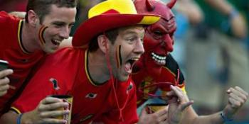 supporters belges diables rouges