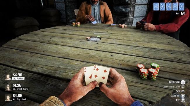 Red Dead Redemption 2 partie de poker